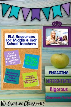 The Creative Classroom specializes in engaging and differentiated ELA resources for Middle and High School Teachers. You can find both short story and nonfiction close reading units with writing performance tasks. In addition to fiction and nonfiction task cards that contain tasks, criteria, and editable templates, you can also find interventions and mini-lesson activities to help struggling students.