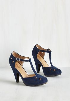 The Zest is History Heel in Navy | Mod Retro Vintage Heels | ModCloth.com