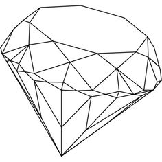 diamond line illustration found on Polyvore featuring fillers, backgrounds, drawings & doodles, doodle and scribble