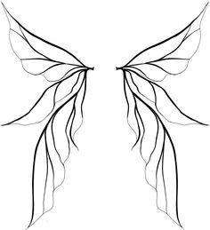 fairy wings, wings drawing and wings clipart Fairy Wings Drawing, Fairy Drawings, Diy Fairy Wings, Unique Drawings, Fairy Wing Tattoos, Tinkerbell Wings, Tinkerbell Drawing, Hanya Tattoo, Tatoo Art