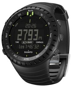 Get it now Suunto Core Wrist-Top Computer Watch with Altimeter, Barometer, Compass, and Depth Measurement (All Black) All Black Watches, Army Watches, Sport Watches, Cool Watches, Watches For Men, Unique Watches, Equipement Running, Michael Kors Access, Tactical Watch