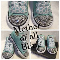 Swarovski Crystal Converse Infant/Toddler Shoes by MotherOfAllBling on Etsy
