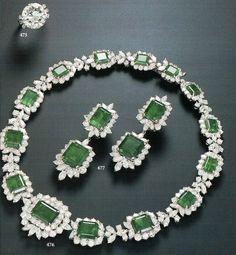 Harry Winston Emerald set