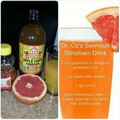 Dr oz slim down drink. Use after two weeks.