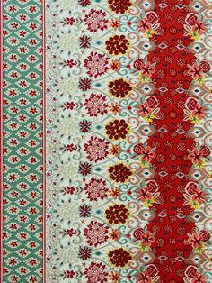 ROCAT 223 MINT/RED #cotton #multi-colored #print-fabrics