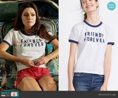 Princess Eleanor's Friends Forever tee on The Royals.  Outfit Details: https://wornontv.net/55206/ #TheRoyals