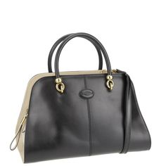 #Tod's Sella Bag, black and cream, from autumn winter 2013. www.wunderl.com