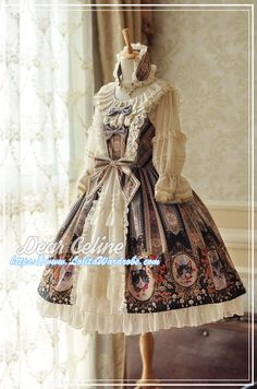 DearCeline -Hello! Miss Cat- Lolita JSK Open Front Version