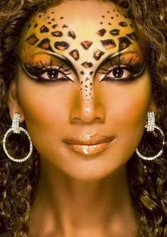 cheetah halloween women makeup ideas