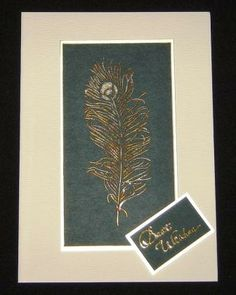 Foiled Messy Feather Sweet Poppy stencils