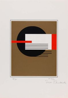 "Erich Buchholz [Germany] (1891-1972) ~ ""Untitled"", 1922. Screenprint on paper (62 x 42.8 cm (36.2 x 30.2 cm)). 