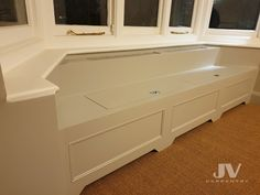 Fitted office desks, Electric and Boiler cupboards, custom whine racks, chest of drawers best at our fitted furniture company JV carpentry Bay Window Storage, Bay Window Benches, Stair Storage, Built In Storage, Window Seats, Extra Storage, Bay Window Living Room, Bedroom Windows, Sash Windows