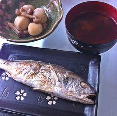 2013.3.7 いしもちの塩焼きと里芋の煮物