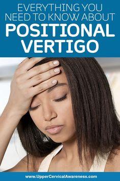 Positional vertigo is short for benign paroxysmal positional vertigo. This is the most common cause of false sense of spinning. How To Cure Vertigo, Vertigo Causes, Vertigo Relief, Essential Oils For Vertigo, Loss Of Balance, Vertigo Comics, Health Diet, Natural Healing, Exercises