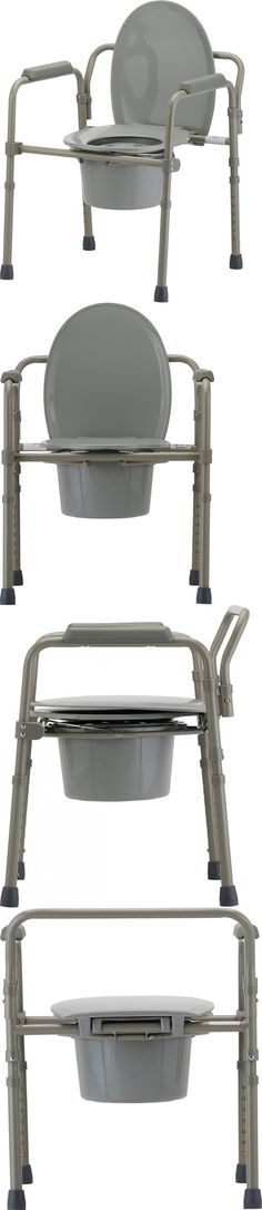 Toilet Frames and Commodes: Nova Medical Products 8700-R Folding Commode BUY IT NOW ONLY: $63.76