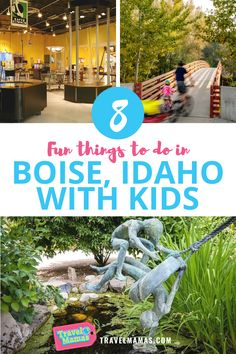 These family attractions in Boise, Idaho are fun for all ages. Kids and teens will enjoy these outdoor activities, botanical garden, museums and more. #boise #idaho #travelwithkids #familytravel