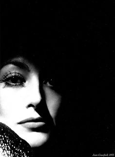 The dark and light contrast is amazing. Joan Crawford.