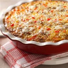 Monterey Sausage Pie Recipe -It's a snap to make this dish using baking mix. I got the idea from a similar recipe with hamburger and cheddar cheese. That version was too bland for my family, but I made a few changes, and this is a hit! —Bonnie Marlow, Ottoville, Ohio