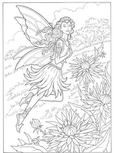 Fairy Adult Coloring Page Luxury Inkspired Musings the Language Of Flowers Chrysanthemum Fairy Coloring Pages, Printable Coloring Pages, Adult Coloring Pages, Coloring Sheets, Coloring Books, Free Coloring, Coloring Pages For Kids, Kids Colouring, Fairy Mermaid