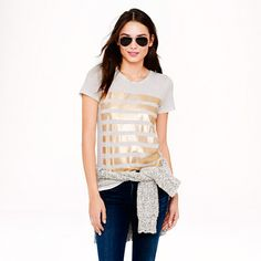 GOLD striped tee.