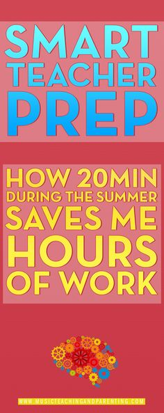 Summer Planning for Teachers