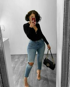 Cute Casual Outfits, Casual Chic, Stylish Outfits, Girl Outfits, Fashion Outfits, Dress Casual, Dope Outfits, Night Outfits, Black Girl Fashion