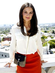 Katie Holmes' look is perfect for the office! Classy and stylish.