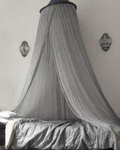 ♅ Dove Gray Home Decor ♅ grey canopy