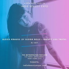 As if our SHOP INDIE event couldn't get any better (Aug 24), we're thrilled to have Alexis Krauss (@sleighbells + @beautyliestruth) on the 1's…