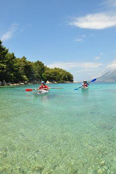 Sea kayaking in Croatia.
