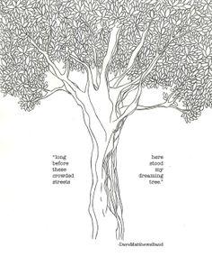 "DMB, Dave Matthews Band ""Dreaming Tree"" 8""x10"" art print, digital JPEG instant download"