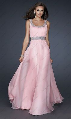 Wedding Dress Evening Gown Party Bridesmaid Ball Prom Dress Size 6 8 10 12 14 16 | eBay