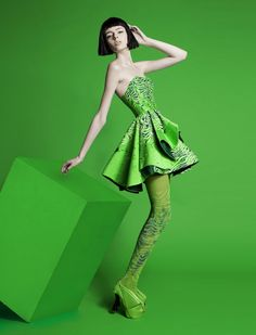Green fashion monochrome