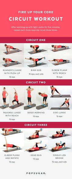 Ab and Core Workout | Printable | POPSUGAR Fitness