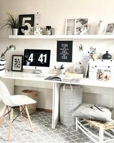 luscious minimalist furniture photography ideas 13 < Home Design Ideas Home Office Space, Home Office Design, Home Office Decor, House Design, Home Decor, Home Study Rooms, Desk Inspiration, Desk Inspo, Aesthetic Room Decor