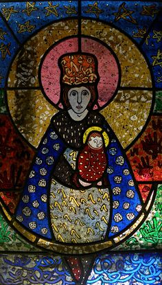 Mary and Jesus-Keith Gale Harry Clarke, Mary And Jesus, Swansea, Mother And Child, 21st Century, Stained Glass, College, Saints, Amazing