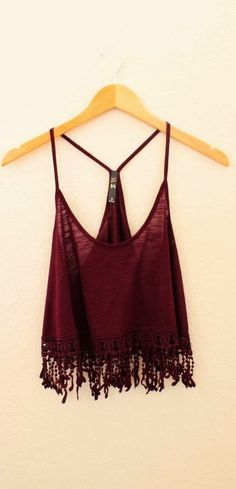 Gorgeous burgandy boho tank fashion