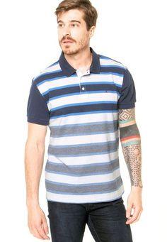 Camisa Polo Aramis Reta Azul - Marca Aramis