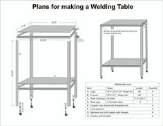 Welding Table Designs welding table plans top view Welding Table Plans