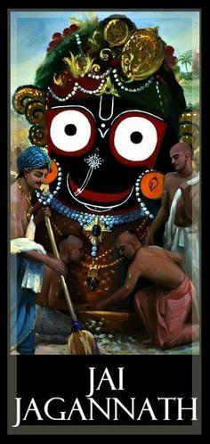 Jagannath swami nayan path gami bhava tume..... Jai Shree Krishna, Radha Krishna Love, Radhe Krishna, Devin Art, Lord Jagannath, Lord Shiva Family, Spiritual Love, Radha Krishna Wallpaper, Lord Vishnu