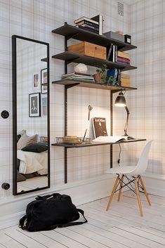 Amenajare în carouri într-o garsonieră de 44 m² | Jurnal de design interior