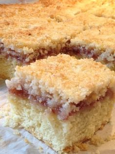 Coconut and Jam Slice Recipe & Country Funerals – Cauldrons and Cupcakes Coconut Recipes, Baking Recipes, Cake Recipes, Dessert Recipes, Coconut Cakes, Coconut Sponge Cake, Pudding Recipes, Coconut Jam, Coconut Slice