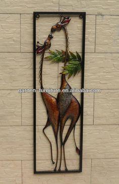Decorativos de metal enmarcado arte piezas de hierro forjado decoración de la…