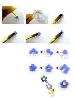 Acrylic Nail Art   3D Acrylic nail art featuring a 3D Flower.