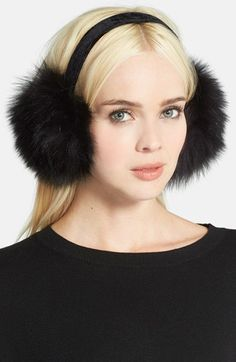 KYI+KYI+Genuine+Fox+Fur+Earmuffs+available+at+#Nordstrom