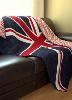 British Flag quilt made to order lap size by HouseofdeVeer - etsy