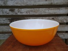 Hey, I found this really awesome Etsy listing at http://www.etsy.com/listing/163103786/vintage-orange-pyrex-bowl