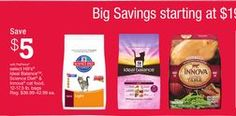 Select Hill's® Ideal Balance™, Science Diet® & Innova® Cat Food, 12-17.5 lb. Bags from PetSmart USA $19.99 (54% Off) -
