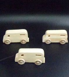 Pkg Of 3 Handcrafted Wood Toy Vans 235aah U 3 Unfinished Or Etsy Handcrafted Wood Wood Toys Toys