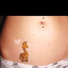 Giraffe tattoo for my daughter